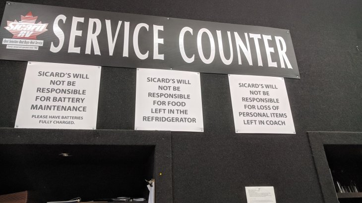 Sicards Service Counter ?